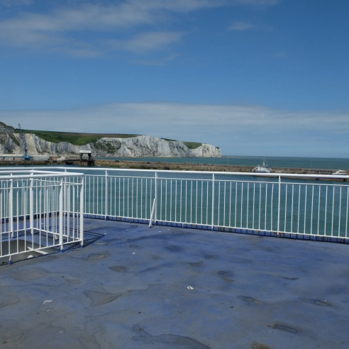 Arrivée sur Douvres en ferry
